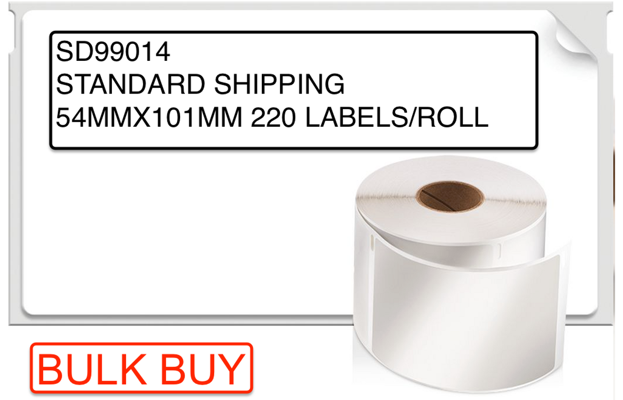 Dymo Bulk Labelwriter LW White Permanent Paper Shipping Label 54MM X 101MM (Box Of 12 SD99014 Rolls) SD0722420