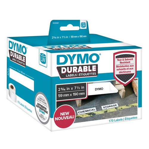 DYMO DURABLE LW450 LABEL SHIPPING WHITE  59MM X 190MM ROLL OF 170