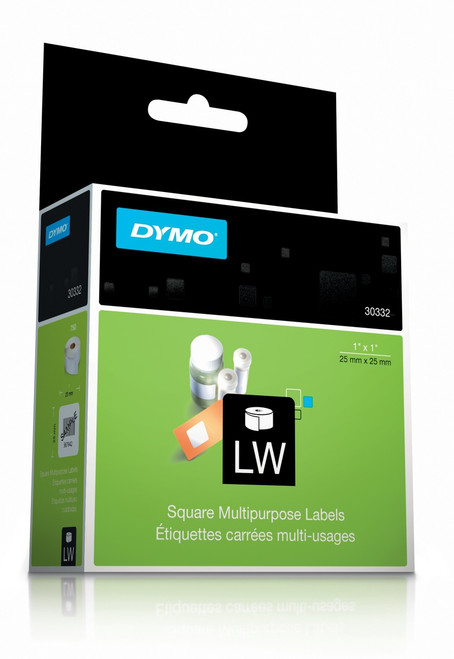 DYMO 30332/ S0929120 LABELWRITER MULTI PURPOSE SQUARE LABELS 25 X 25MM