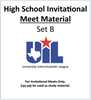 HS Invitational Meet Material (Set B)