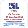 2013 CX Debate 2A Semifinal #1