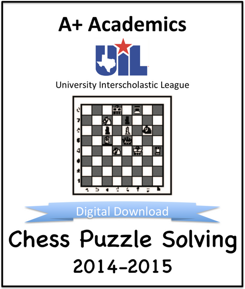 A+ Chess Puzzle Tests from 2014-15