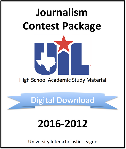 Journalism Contest Package 2016-2012