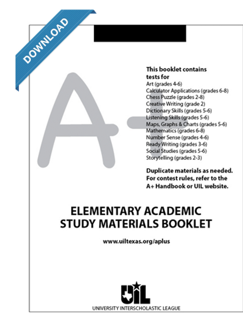 Elementary Academic Study Materials Booklet For Grades 2 6