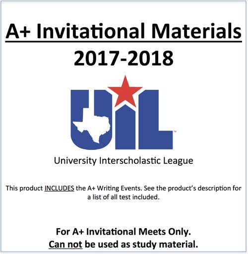 A+ Invitational Materials