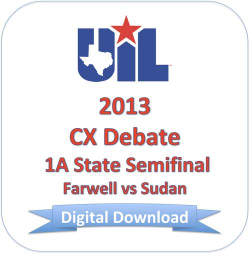 2013 CX Debate 1A Semifinal #2