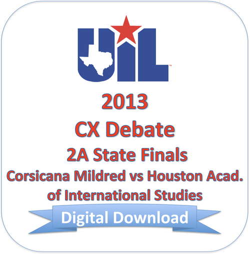 2013 CX Debate 2A Finals