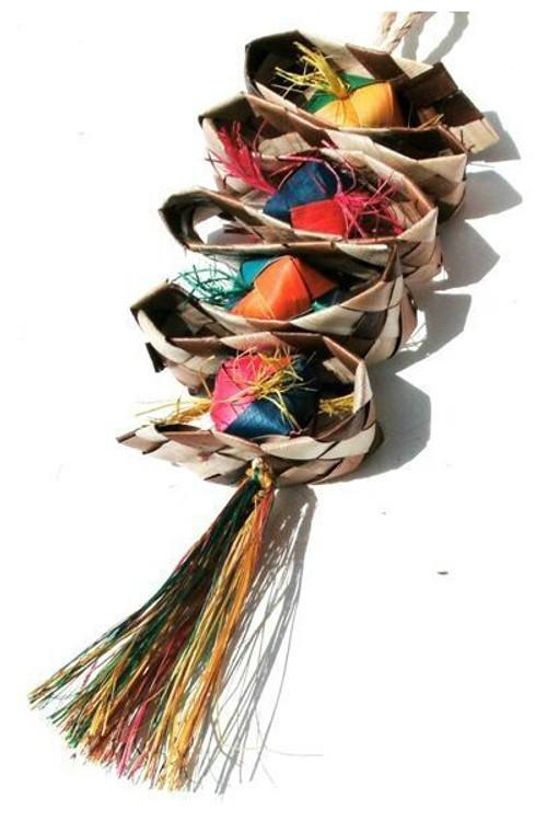 Straight Ribbon Nat w Balls Spiral