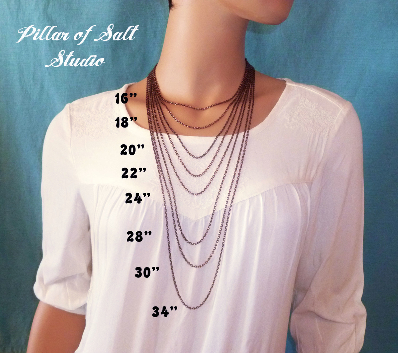 solid copper chain, choose your length