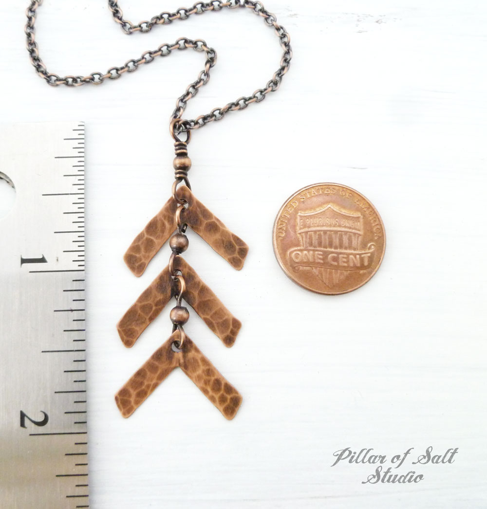 Down Syndrome three arrow necklace