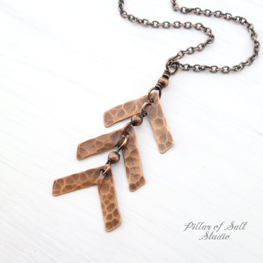 Down Syndrome three arrow necklace copper jewelry