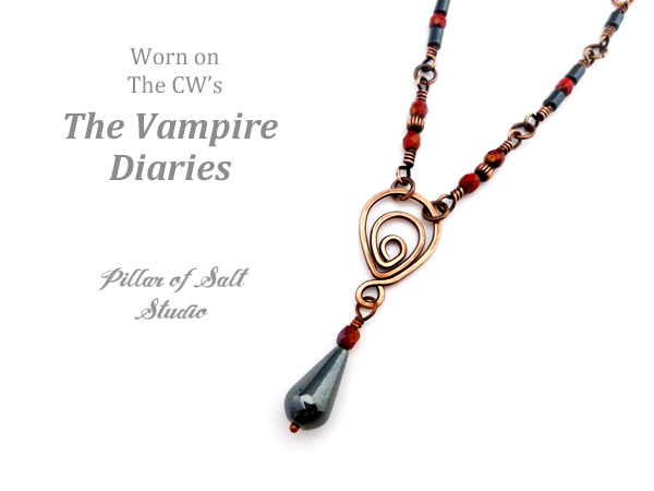 Copper necklace worn by Bonnie on The Vampire Diaries by Pillar of Salt Studio