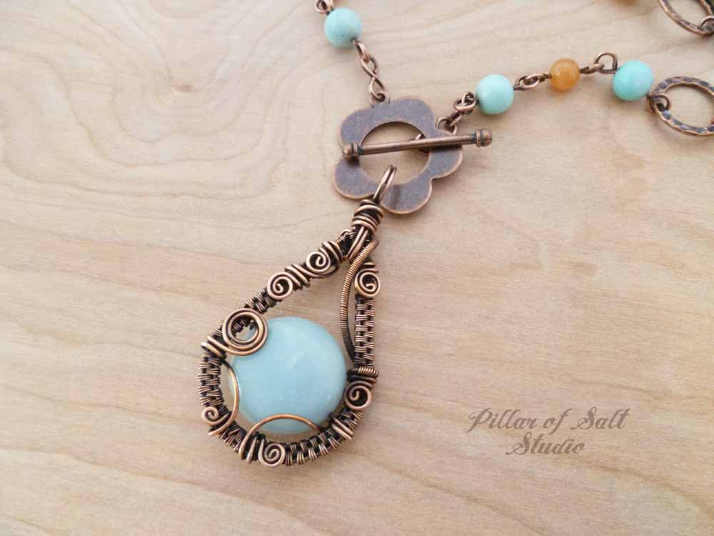 Wire wrapped necklace as seen on Cedar Cove