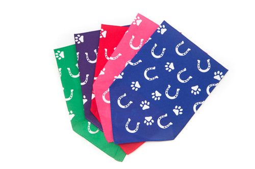 Horseshoes and Paw Prints Bandana