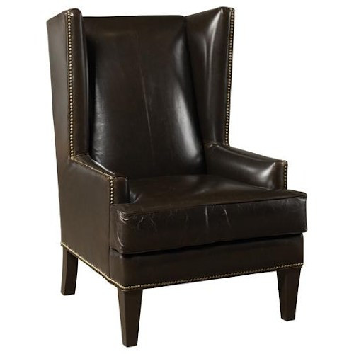 11210 Leather  Wing Chair