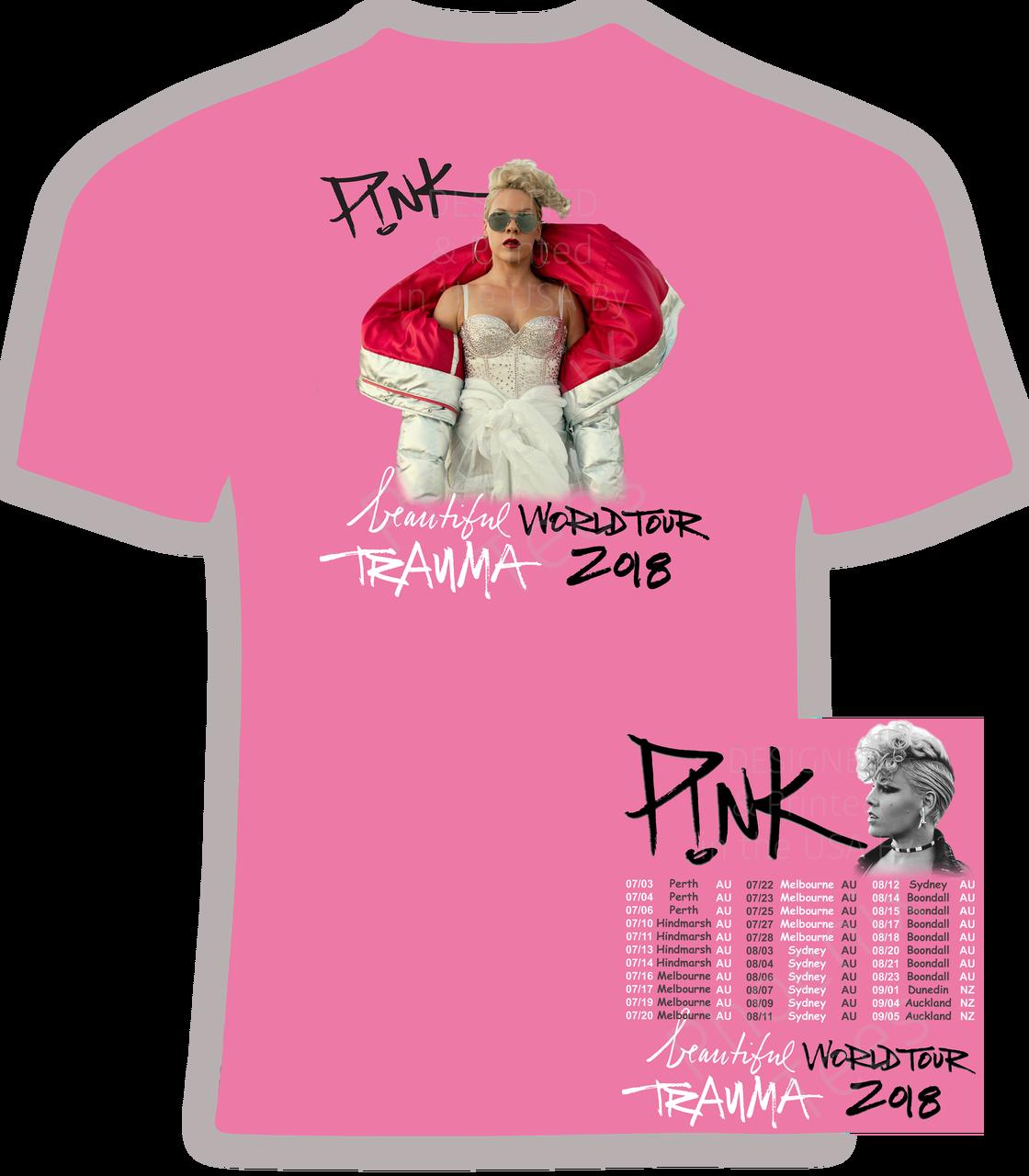 Pink (Australia and New Zealand) Beautiful Trauma 2018 Concert t ...