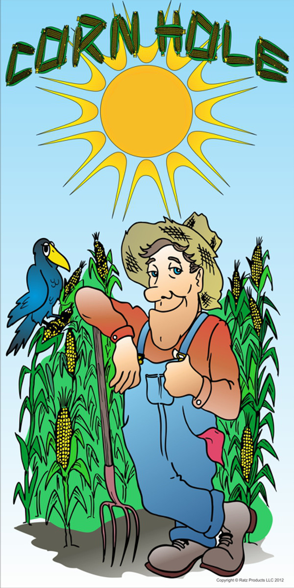 This image is our original artwork of our Farmer graphics