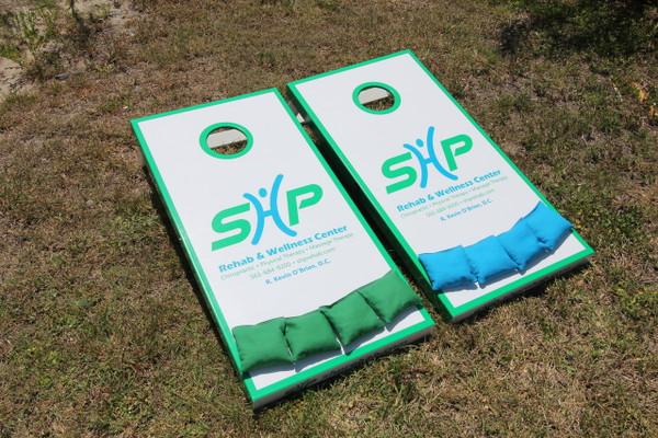 Slimline Cornhole Boards with 8 bags