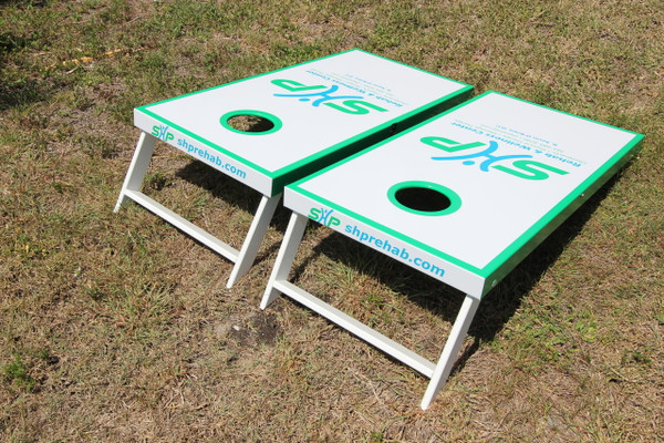 Slimline Cornhole Boards With 8 Bags Lightweight And Portable Slimline Cornhole  Boards ...