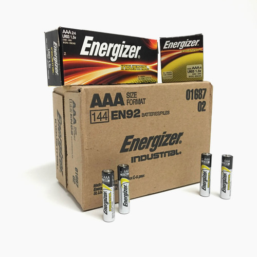 Energizer Industrial AAA Batteries - Case of 144
