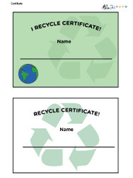 Recycling Certificate: Pages 1