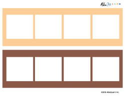 Blank Pec Strip- 4 Piece Card - 5 Pages