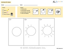 Drawing With Shapes - How to Draw a Sun