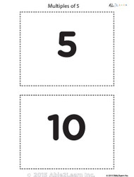 Counting - Multiples of 5's Flash Cards