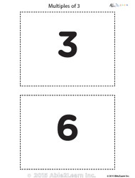 Counting - Multiple of 3's Flash Cards