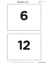 Counting - Multiple of 6's Flash Cards
