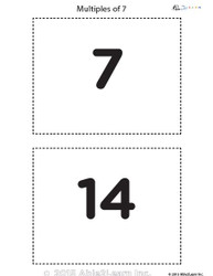 Counting - Multiple of 7's Flash Cards