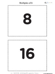 Counting - Multiple of 8's Flash Cards