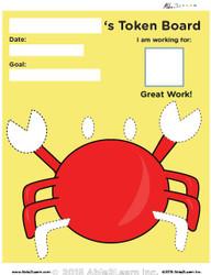 Token Board - Crab - 6 Tokens