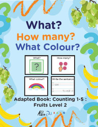 Fruit Themed Adaptive Books - Counting 1 - 5 (Lv. 2) -19 Pages