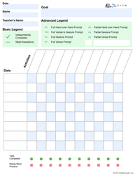 Blank Data Sheets: 1 Page