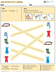 Clothing Identical Picture  Matching Program with ABLLS-R™ Words (Lv. 1)
