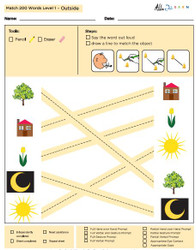 Outside Identical Picture  Matching Program with ABLLS-R™ Words (Lv. 1)
