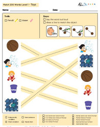 Toys Identical Picture  Matching Program with ABLLS-R™ Words (Lv. 1)