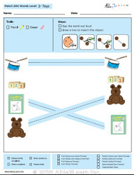 Toys Identical Picture  Matching Program with ABLLS-R™ Words (Lv. 2)