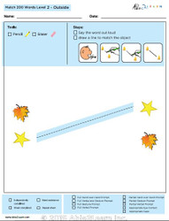 Outside Identical Picture  Matching Program with ABLLS-R™ Words (Lv. 2)