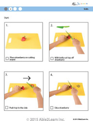 Cooking Skills - How to Slice a Strawberry