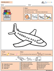 Colouring Program Level 3b: 10 Pages