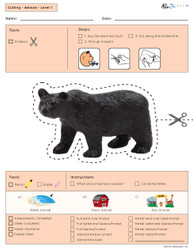 Cutting with Scissors Practise - Animal Shapes (Lv. 1)
