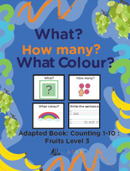 FRUIT THEMED  PRINTING BOOKS- COUNTING, 1 - 10 (Lv. 3) -19 Pages