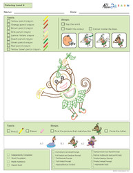 Colouring Program Guided - Animals- Level 4b - Pages 8