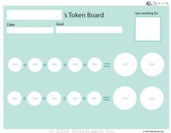 Money Token Board - Adding Dimes: C  With  Visual Support: 2 Pages