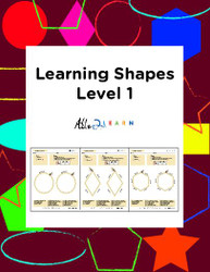 Learn To Identify & Draw Shapes: Level 1: 12 Pages