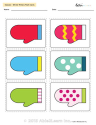 Seasons - Winter Mittens Game Flash Cards - 8 pages