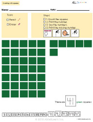 Learn Counting Numbers 41-50 With Visual Discrimination- Pages  10