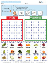 Fruits and Vegetables: The Food Group: Level 2 8 Pages